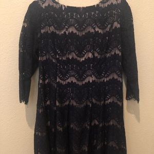Dresses & Skirts - PETITE Navy Blue Lace Dress